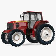Traktor röd 3d model