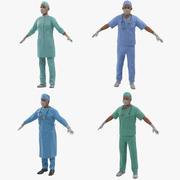 Коллекция Doctors Rigged для Майи 3d model