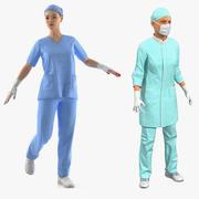 Collection truquée de femmes médecins pour Cinema 4D 3d model