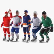 Родовая коллекция хоккеистов для Cinema 4D 3d model