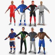 Sport Characters Collection för Maya 3d model