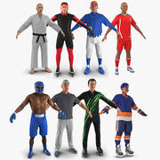 Sport Characters Collection for Cinema 4D 3d model