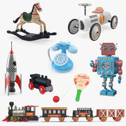 Collezione di giocattoli retrò 3 3d model