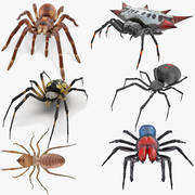 Cinema 4D 용 Rigged Spiders Collection 2 3d model