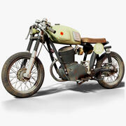 Gilera 160SS Motorcycle Gameready 3d model