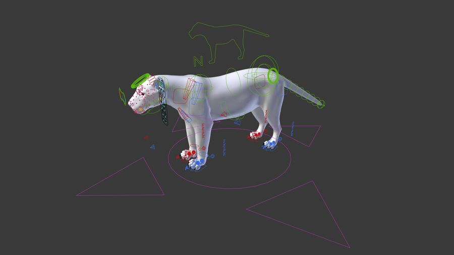 Panthera onca royalty-free 3d model - Preview no. 20