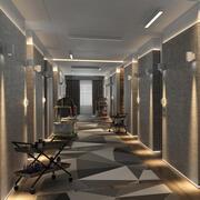 Hotel Hallway 3d model