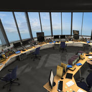 Torre de controle de aeroporto 3d model