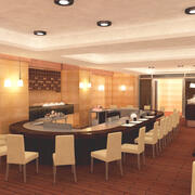 Japonya Teppanyaki Restoranı 3d model