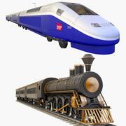 Coleção de trens de passageiros 3d model