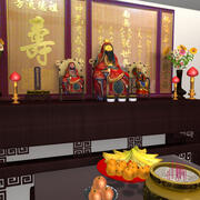 Chinees altaar 3d model