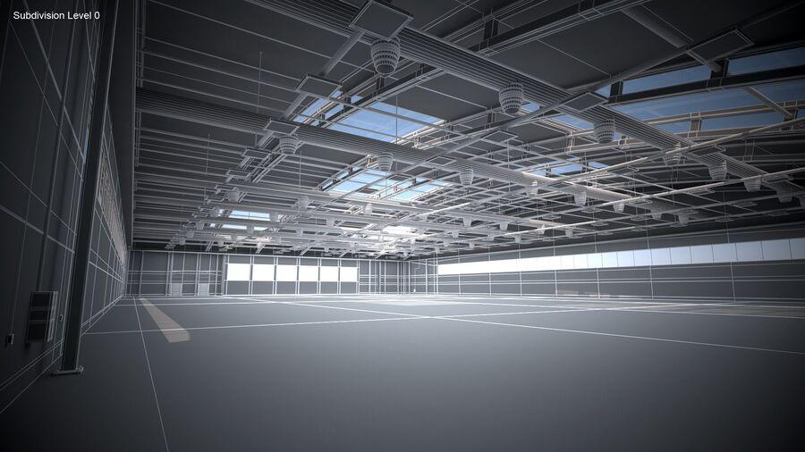 Hangar aereo royalty-free 3d model - Preview no. 11