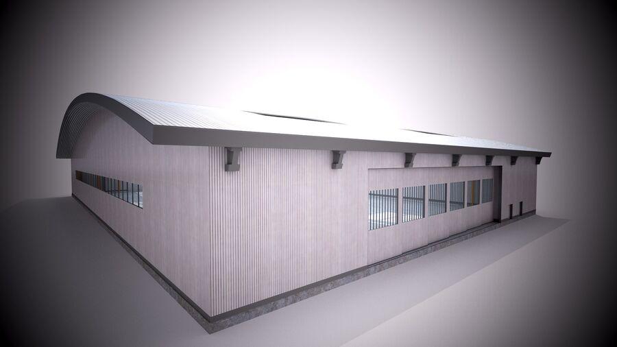 Hangar aereo royalty-free 3d model - Preview no. 9