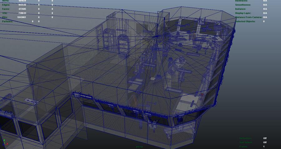 Nimitz Aircraft Carrier Bridge royalty-free 3d model - Preview no. 11