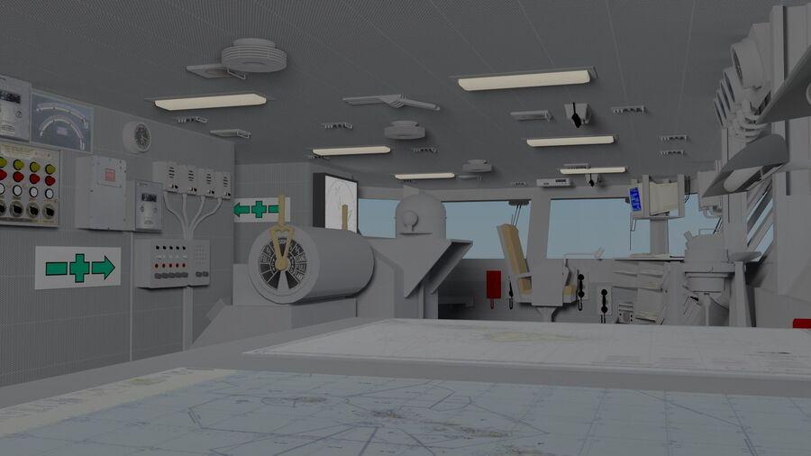 Nimitz Aircraft Carrier Bridge royalty-free 3d model - Preview no. 5