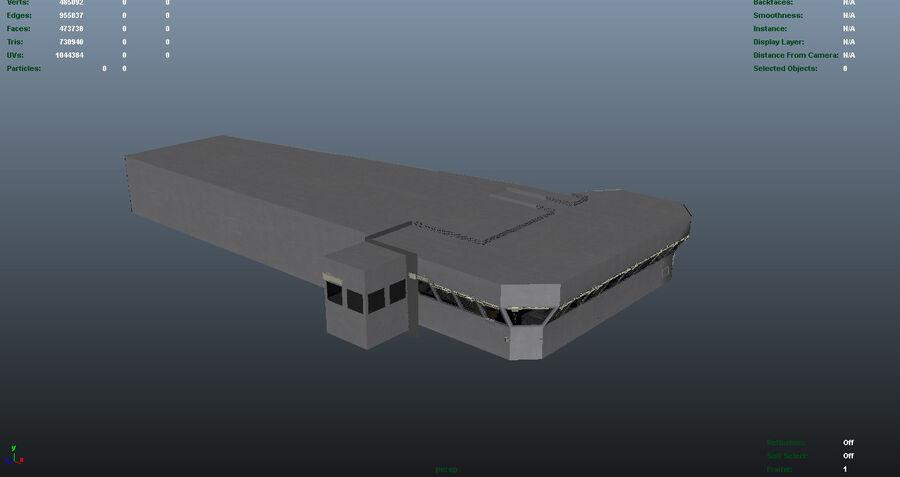 Nimitz Aircraft Carrier Bridge royalty-free 3d model - Preview no. 13
