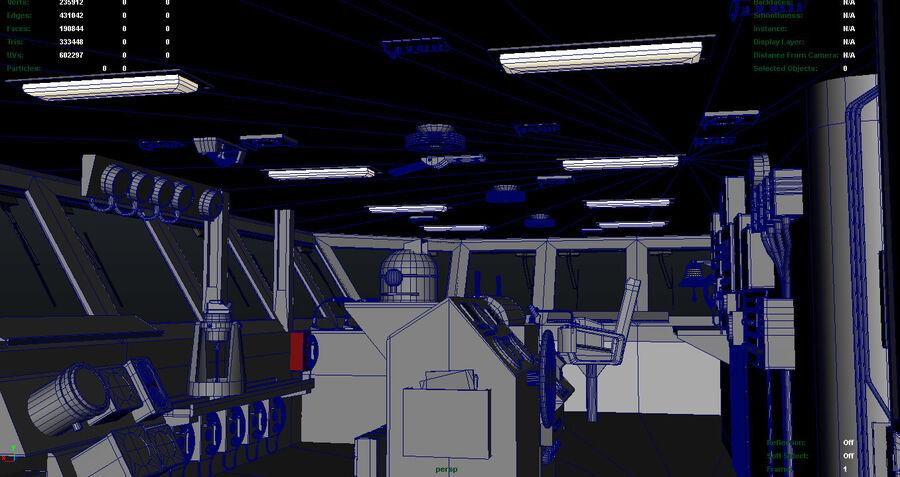 Nimitz Aircraft Carrier Bridge royalty-free 3d model - Preview no. 6