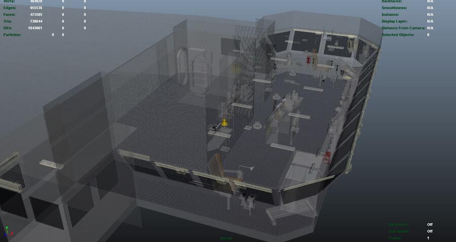 Nimitz Aircraft Carrier Bridge royalty-free 3d model - Preview no. 12