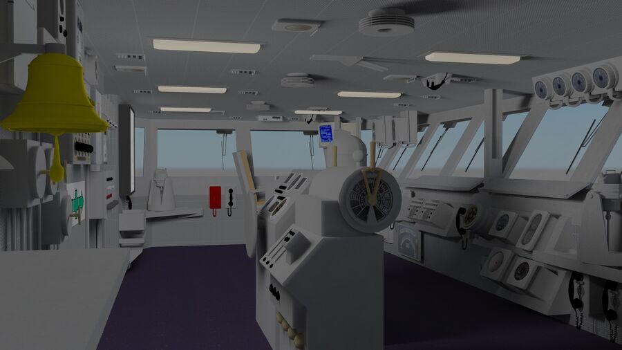 Nimitz Aircraft Carrier Bridge royalty-free 3d model - Preview no. 1