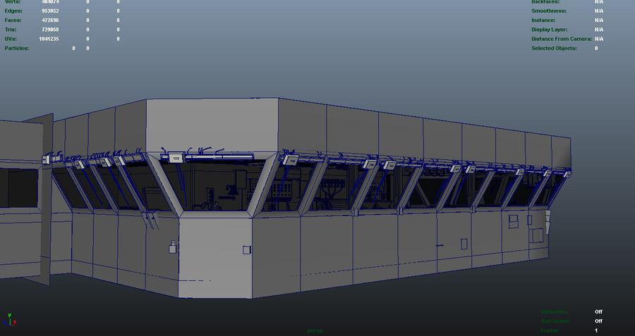 Nimitz Aircraft Carrier Bridge royalty-free 3d model - Preview no. 10