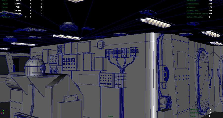 Nimitz Aircraft Carrier Bridge royalty-free 3d model - Preview no. 7