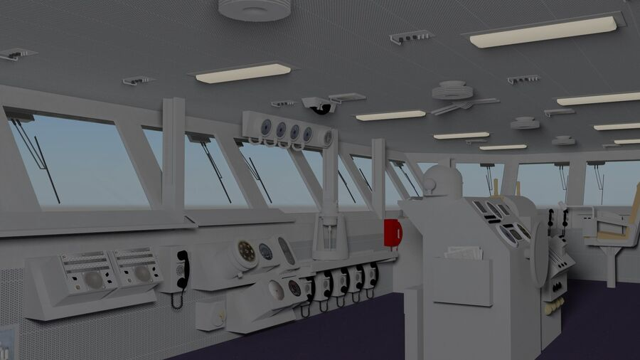 Nimitz Aircraft Carrier Bridge royalty-free 3d model - Preview no. 2