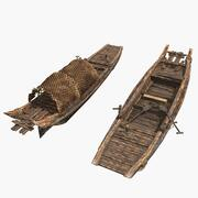 Chinese fishing boat 3d model