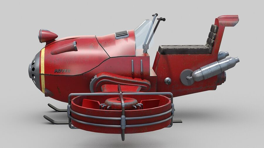 Hover Bike Concept royalty-free 3d model - Preview no. 5