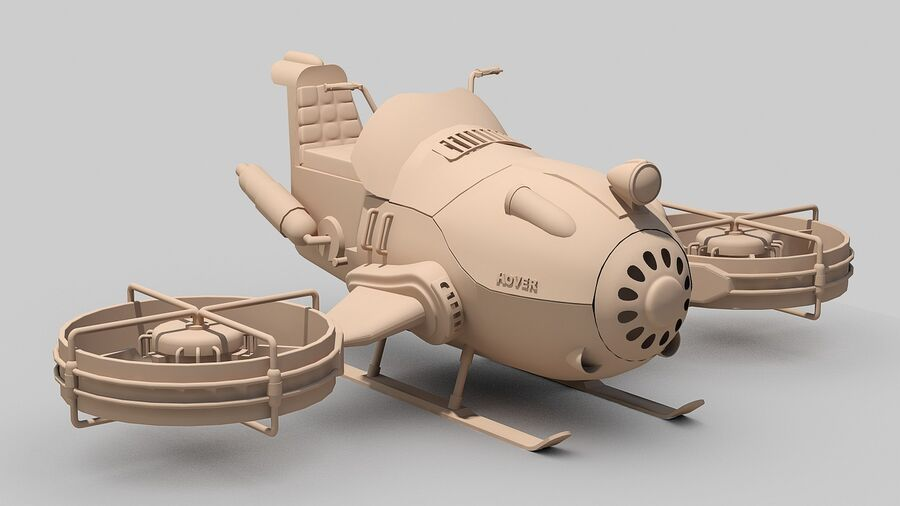 Hover Bike Concept royalty-free 3d model - Preview no. 16
