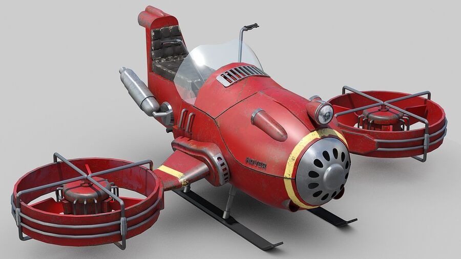 Hover Bike Concept royalty-free 3d model - Preview no. 9