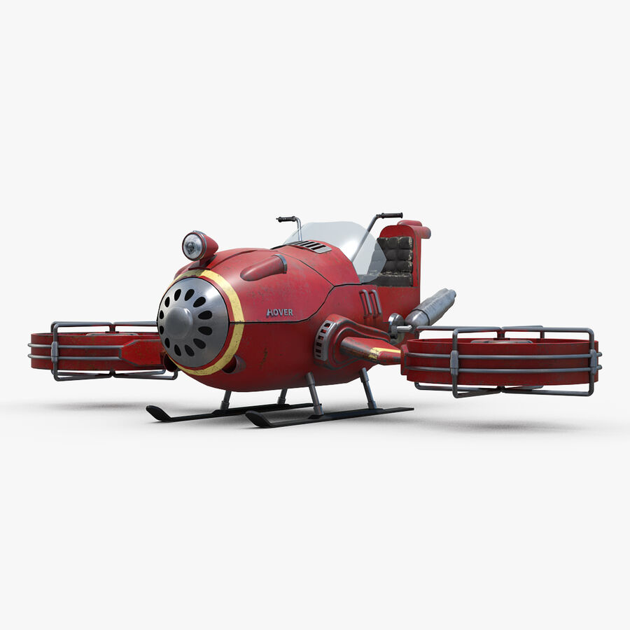 Hover Bike Concept royalty-free 3d model - Preview no. 1