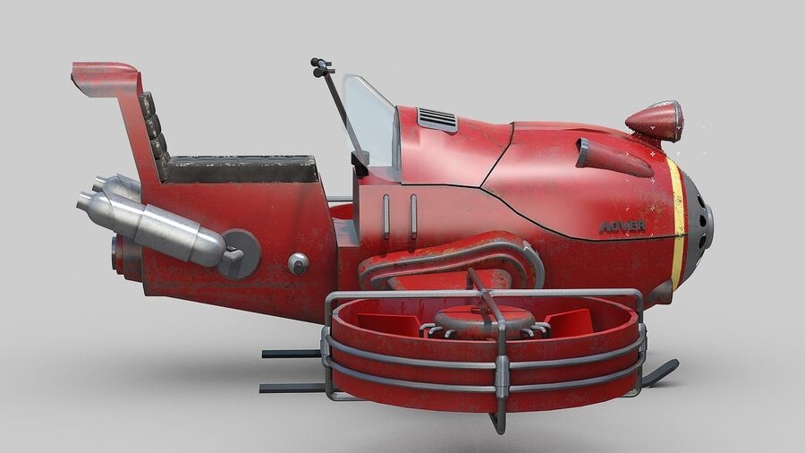 Hover Bike Concept royalty-free 3d model - Preview no. 8