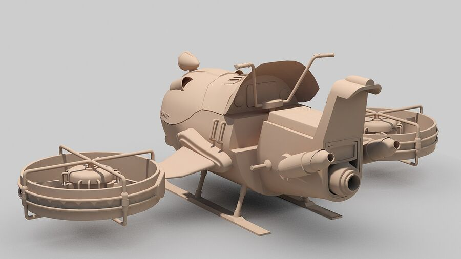 Hover Bike Concept royalty-free 3d model - Preview no. 18