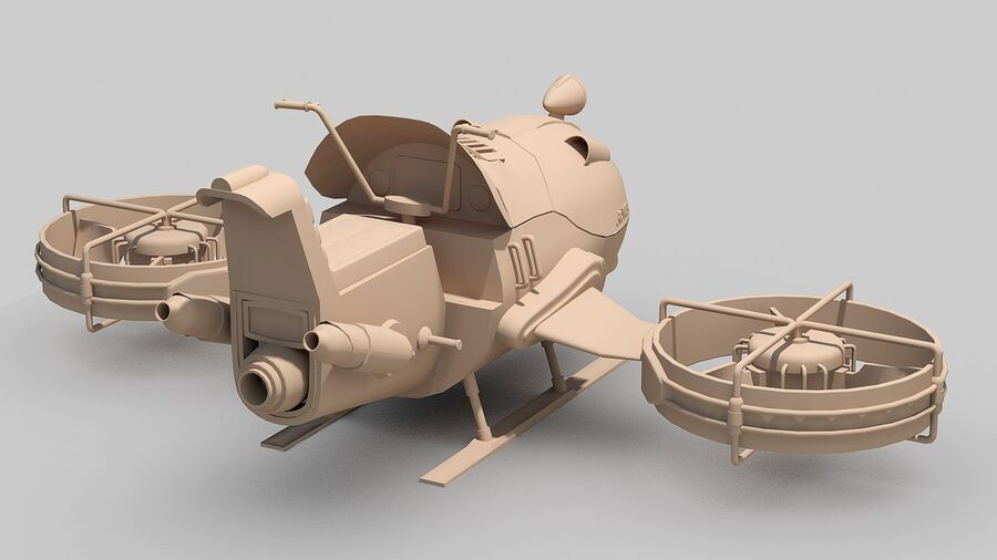 Hover Bike Concept royalty-free 3d model - Preview no. 17