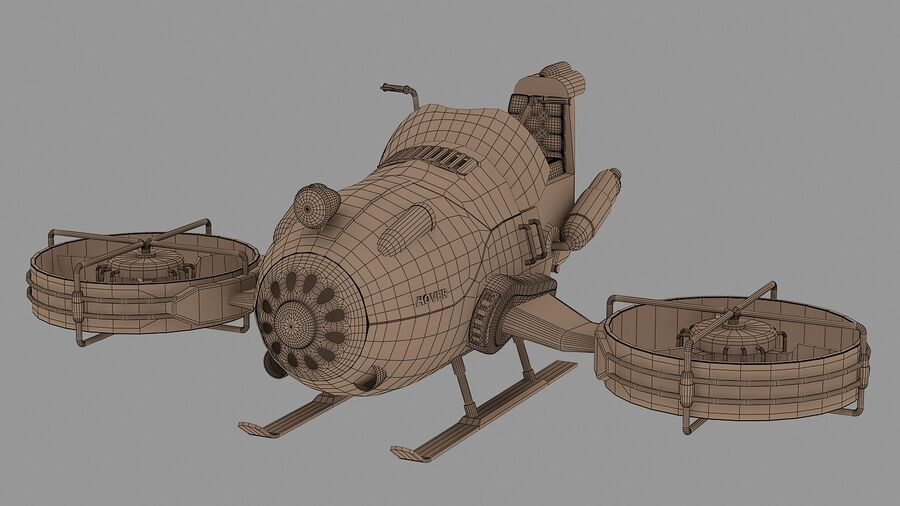 Hover Bike Concept royalty-free 3d model - Preview no. 11
