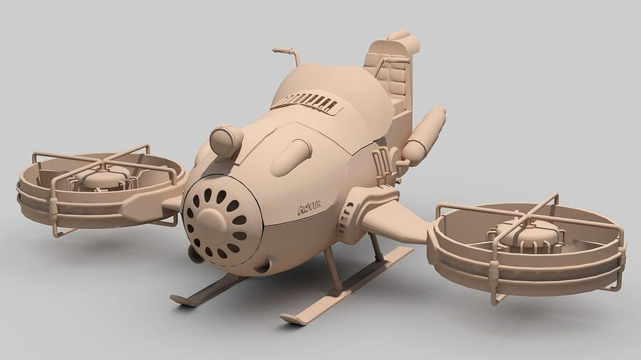 Hover Bike Concept royalty-free 3d model - Preview no. 15