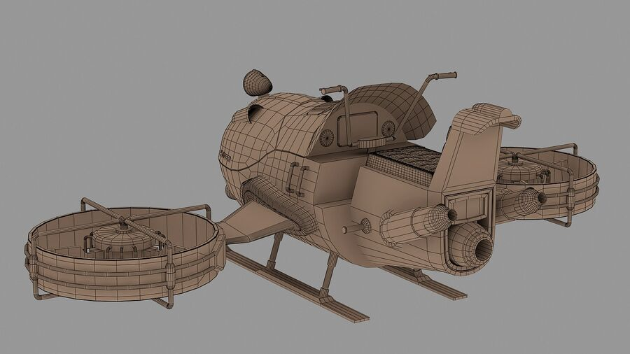 Hover Bike Concept royalty-free 3d model - Preview no. 14