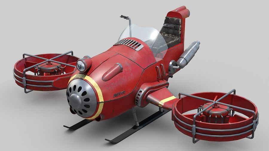 Hover Bike Concept royalty-free 3d model - Preview no. 4