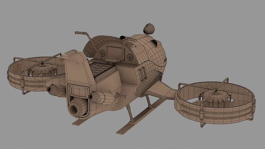Hover Bike Concept royalty-free 3d model - Preview no. 13