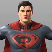 Costume de Superman fils rouge 3d model