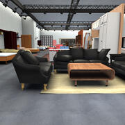 Magasin d'ameublement 3d model