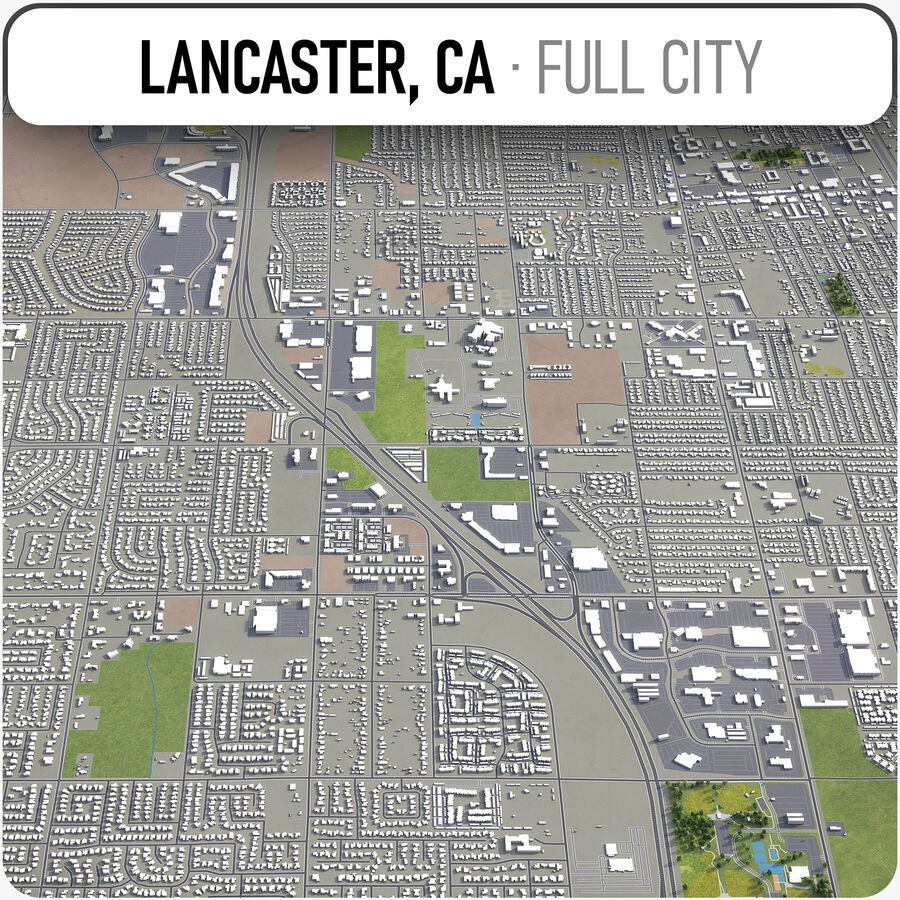 Lancaster - Stadt und Umgebung royalty-free 3d model - Preview no. 1
