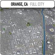 オレンジ-都市とその周辺 3d model