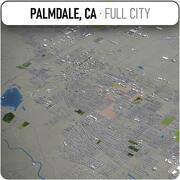 Palmdale - ville et environs 3d model