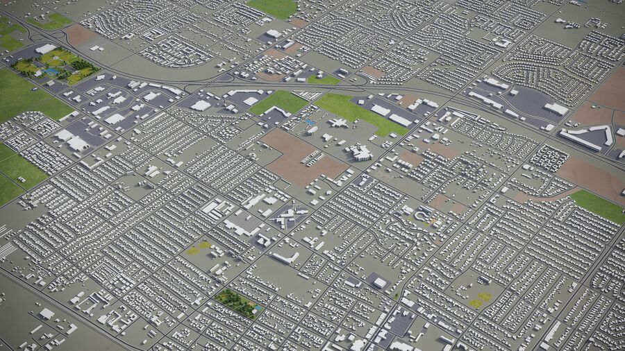 Palmdale - Stadt und Umgebung royalty-free 3d model - Preview no. 4