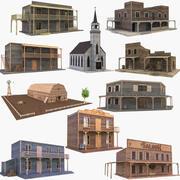 Westerse gebouwencollectie 3 3d model