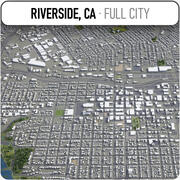 Flussufer - Stadt und Umgebung 3d model