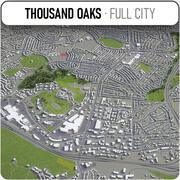 サウザンドオークス-都市とその周辺 3d model
