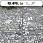 Glendale - ville et environs 3d model