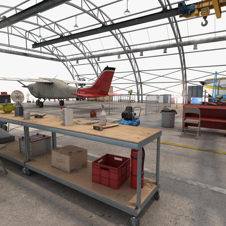 Uçak Hangarı royalty-free 3d model - Preview no. 19